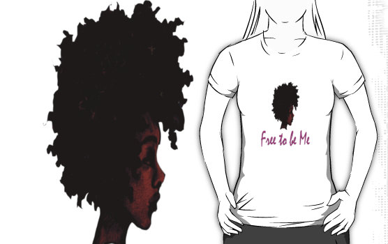 Free to be me t-shirt available in sizes small-2XL on Redbubble.  Click for more information.